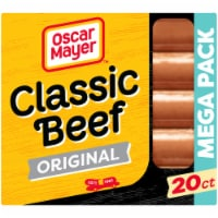 Oscar Mayer Classic Beef Uncured Franks Hot Dogs - 20 ct / 30 oz