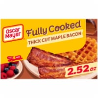 Oscar Mayer Fully Cooked Thick Cut Maple Bacon - 2.52 oz