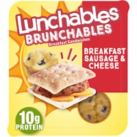 Lunchables Brunchables Sausage and Cheese Breakfast Sandwiches
