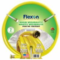 """Flexon 5/8"""" x 60ft Yellow High Visibility Garden Hose"""