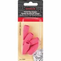 Pencil Eraser Caps 5/Pkg-Pink - 1