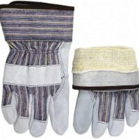 Mcr Safety Leather Gloves,Gray,M,PR  1400KM - 1