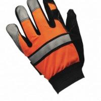 Mcr Safety Leather Gloves,Hi Vis Orange,L,PR  911DPL - L