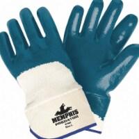 Mcr Safety Chemical Gloves,L,11in.L,Blue/White,PK12  9760
