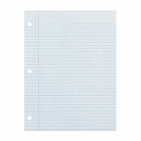 Recycled Filler Paper, White, 3-Hole Punched, 9/32  Ruled w/ Margin 8  x 10-1/2 , 150 Sheets - 1
