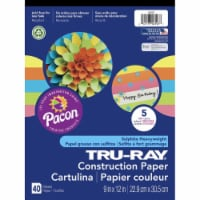 Pacon 1537806 Sulfite Construction Paper, Assorted Hot Colors - Pack of 40