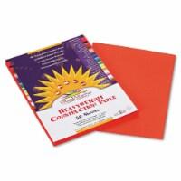 "SunWorks Construction Paper - Multipurpose - 9"" x 12"" - 50 / Pack - Orange"