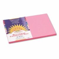 "SunWorks Construction Paper - Multipurpose - 0.50"" x 12""18"" - 50 / Pack - Pink"