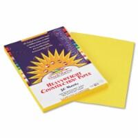 "SunWorks Construction Paper - Multipurpose - 9"" x 12"" - 50 / Pack - Yellow"