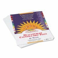 "SunWorks Construction Paper - 12"" x 9"" - 50 / Pack - Bright White"