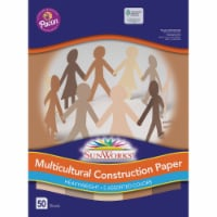 Pacon Multicultural Construction Paper - 50 Pack