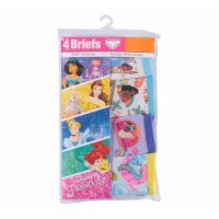 Disney Princess Girls' Cotton Briefs 4 Pack - Multi-Color