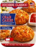 Dockside Classics Premium Crab Cakes with Cocktail Sauce 4 Count