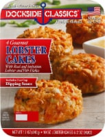 Dockside Classics Lobster Cakes 4 Count - 12 oz
