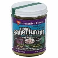 Rejuvenative Foods 100% Organic Raw Sauerkraunt Salt-Free Cabbage Dill
