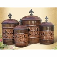 Old Dutch International 730 Set Of Four Versailles Canisters