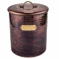 Old Dutch International 1844 Hammered Antique Copper Cookie Jar - 1
