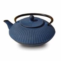 Old Dutch International 046BL Blue Cast Iron Fidelity Teapot 27 Oz.