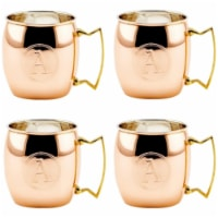 Old Dutch International OS428MMA 16 oz. Solid Copper Moscow Mule Mug, Monogram A