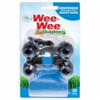 Four Paws Wee-Wee Outdoor Heavy Duty Waste Bags & Dispenser - 30 ct