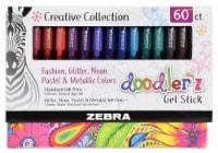 Zebra Doodlerz Gel Stick Pens - 60 ct