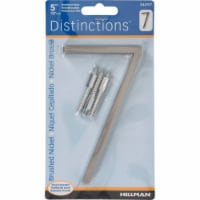 Hillman Distinctions 5 in. Silver Brushed Nickel Screw-On Number 7 1 pc. - Case Of: 3; - Case of: 3