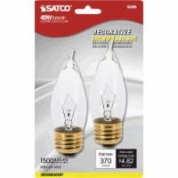 Satco 40W Clear Medium CA10 Incandescent Turn Tip Decorative Light Bulb (2-Pack) - 1