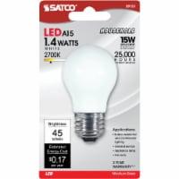 Satco 15W Equivalent Soft White A15 Medium LED Decorative Fan Light Bulb S9151