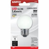 Satco 15W Equivalent Soft White G16.5 Medium LED Decorative Globe Light Bulb - 1