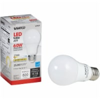 Satco 60W Equivalent Warm White A19 Medium Dimmable LED Light Bulb S29835