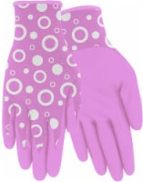 Red Steer Glove Company Bubble Pattern Nitrile Palm Women's Gloves - Pink