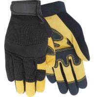 Red Steer Men's Goatskin Hybrid Work Gloves - Black/Yellow - XL