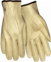 Red Steer Men's Cowhide Leather Work Gloves - Tan - L