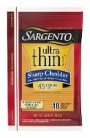 Sargento Ultra Thin Sharp Cheddar Cheese Slices 18 Count
