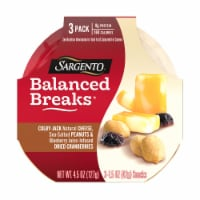 Sargento Balanced Breaks Colby Jack Cheese Peanuts & Dried Cranberries Snack Packs 3 Count