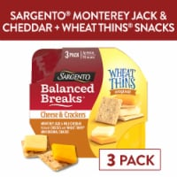 Sargento Balanced Breaks Monterey Jack and Mild Cheddar Cheese with Mini Wheat Thins Snack Packs