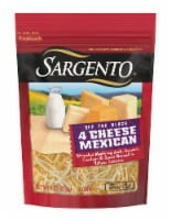 Sargento Off the Block Fine Cut Shredded 4 Cheese Mexican Cheese