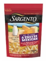 Sargento® Off the Block Shredded 4 Cheese Mexican Blend - 8 oz