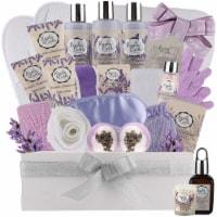Deluxe XL Spa Gift Basket for Women! Natural Lavender Chamomile Spa Bath Set - 1