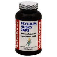 Yerba Prima Psyllium Husks Capsules - 180 ct
