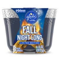 Glade Fall Night Long 3 Wick Candle