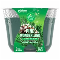 Glade Pine Wonderland 3 Wick Candle - 6.8 oz