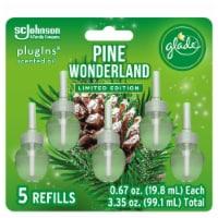 GladePlug Ins Pine Wonderland Scented Oil Refills - 5 ct