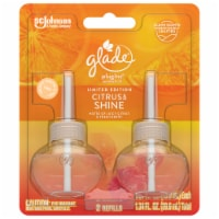 Glade PlugIns Limited Edition Citrus & Shine Scented Oil Refills - 2 Pack
