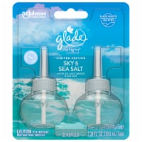 Glade PlugIns Limited Edition Sky & Sea Salt Scented Oil Refills - 2 Pack