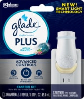 Glade Plus Aqua Waves Scented Oil Plugin and Warmer Starter Kit