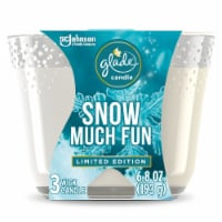 Glade Snow Much Fun 3 Wick Candle - 6.8 oz