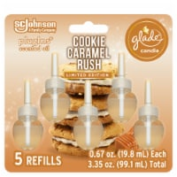 Glade Plug Ins Cookie Caramel Rush Scented Oil Refills - 5 ct
