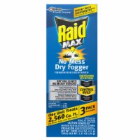 Raid Max Fogger 2.1 oz. - Case Of: 6; Each Pack Qty: 3; Total Items Qty: 18 - Case of: 6