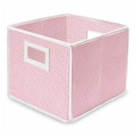Folding Nursery Basket/Storage Cube - Pink Gingham